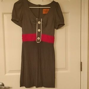 Super cute gray and red dress